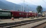 Carrozza speciale in stazione a Sondrio
